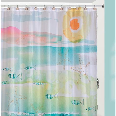 Creative Bath By The Sea Beach Themed Shower Curtain Curtain