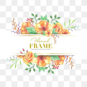Wedding Floral Frame With Watercolor Flowers Illustration Wedding Icons Frame Icons Background Png And Vector With Transparent Background For Free Download Watercolor Flower Illustration Flower Illustration Watercolor Flowers