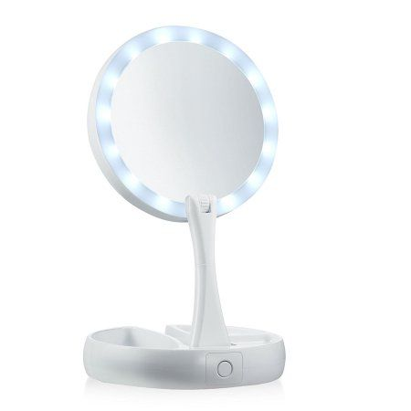 My Foldaway Mirror The Lighted Double Sided Vanity Mirror 10x