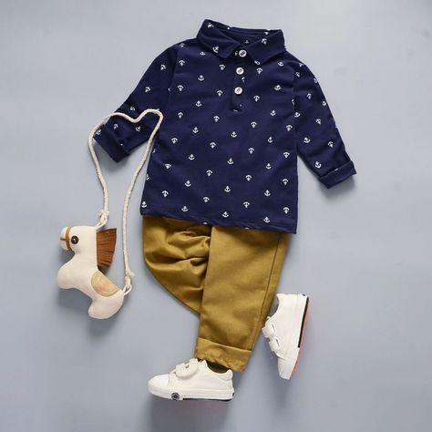 Shirts and Pants for Autumn Evening  Price: 17.95 & FREE Shipping   #babyfashion #kidfashion #style #ronoki