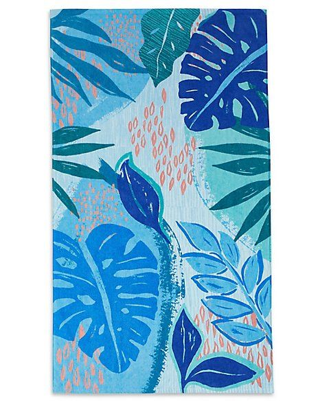 Abstract Floral Print Beach Towel Beach Towel Abstract Floral