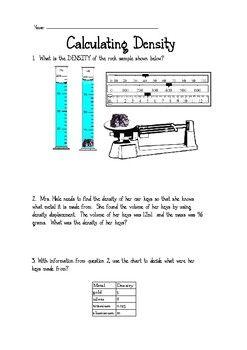 Calculating Density Practice Middle School Science Middle School Science Teacher Middle School Science Classroom