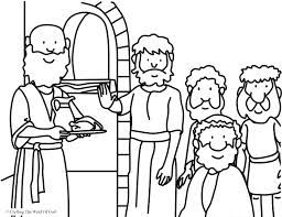 Daniel Eats Vegetables Coloring Page Sunday School Coloring