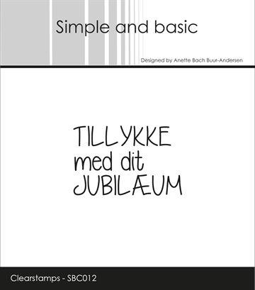 Happymade Simple And Basic Clear Stamp Jubilaeum Sbc012 Tekst Citater Stempler Tekster