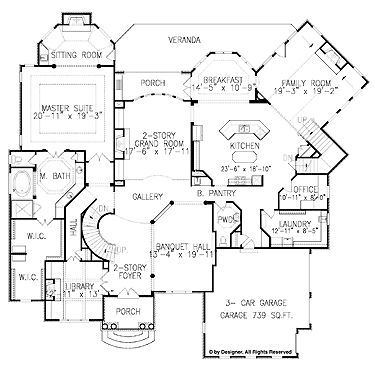 Mini Mansion House Plans 12 Extra Rooms Building Print Gallery Floor Plan House Plans Floor Plans European House Plans