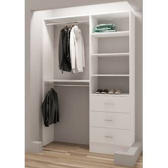 35 W 48 W Closet Rod Closet System Closet Rod Closet