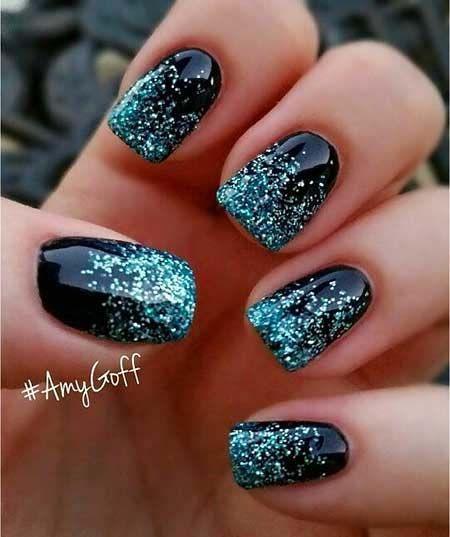 Dark Blue Nail Art 2018