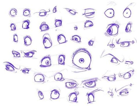Character Design Collection: Eyes Anatomy (With images ...