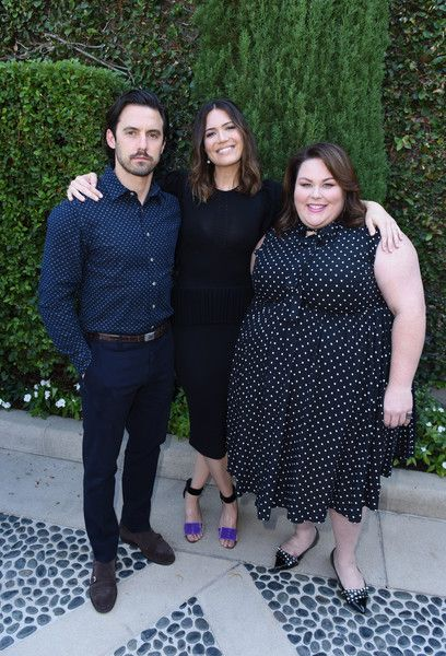 Actor Milo Ventimiglia and actresses Mandy Moore and Chrissy Metz attend The Rape Foundation's Annual Brunch.