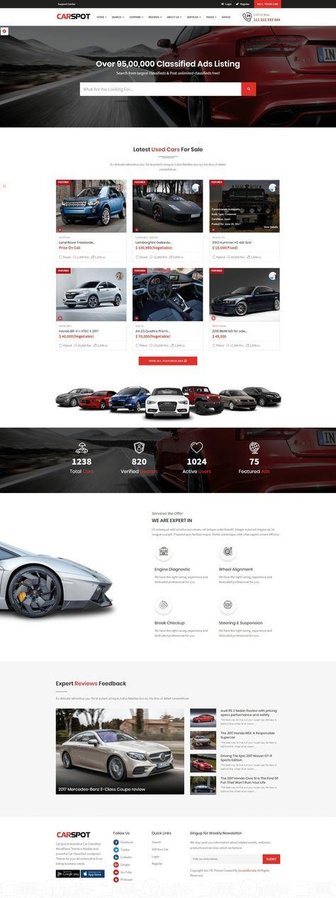40 best Car Dealer Wordpress Theme images on Pinterest | Autos, Cars ...