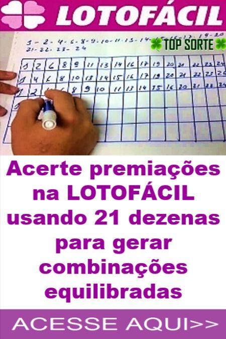 Gerar Combinacoes Da Lotofacil Usando 21 Dezenas Fechamento Lotofacil Jogos Loteria Numero Da Sorte