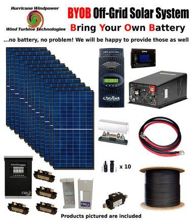Byob Off Grid 3 4kw 48v Solar Panel Kit Tiny House Cabin Pv System Outback Fm80 Best Solar Panels Solar Projects Solar Energy System