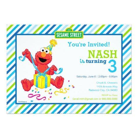 Elmo Boys Birthday Card