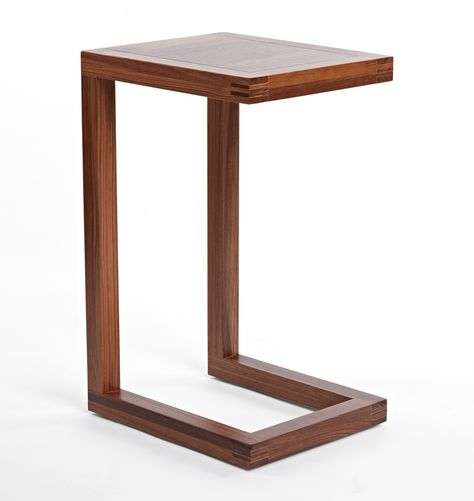 Functional side tables that are not too large. there is a lighter wood option also. Depends on choice of rug, TV cabinet and sofa colors. Brewer C-Shape Side Table Walnut