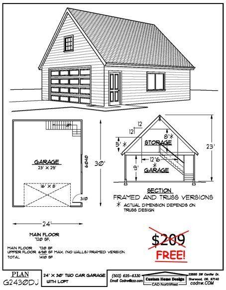 Best Representation Descriptions Free 24 X 30 Garage Plans Related Searches 24x30 Wood Building24x Garage Shop Plans Two Story Garage Garage Plans With Loft