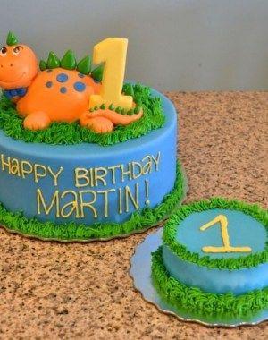 1st Birthday Dinosaur Cake Ideas Ulang Tahun Binatang
