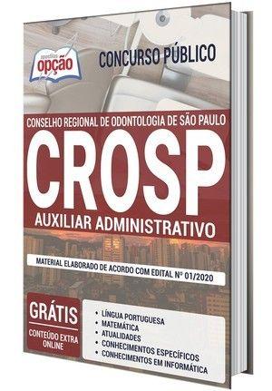 Apostila Concurso Crosp 2020 Auxiliar Administrativo Em 2020