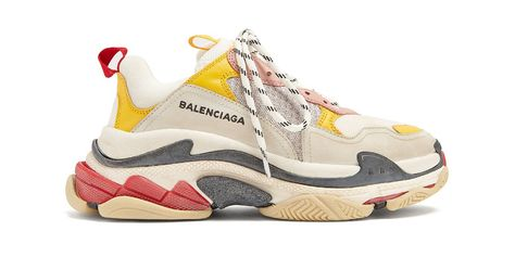 Pas cher Balenciaga Triple S Trainers RED Black