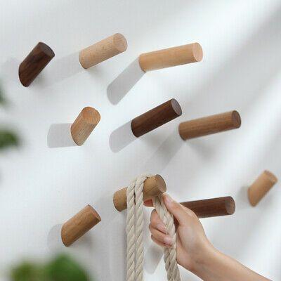 1PC Wooden Peg Wall Hook Hanger Clothes Hat Bag Rack Home Hanging Branch Hooks