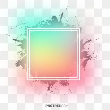 Abstract Watorcolor Pastel Design Frame Pastel Square Png