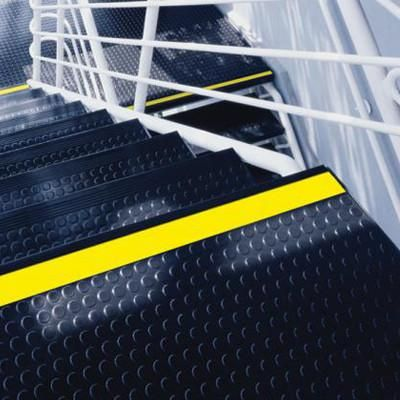 Elegant Armstrong Jet Black #60 Rubber Stair Tread Visually Impaired Raised Square