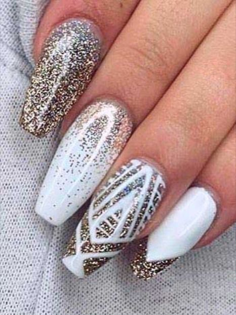 Best Winter Nail Art Designs To Try This Season In 2020 With Images Fun Nails Acrylic Nails Coffin Glitter Winter Nails Acrylic