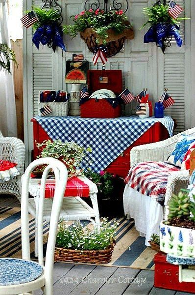 Independence Day Back Porch My 1929 Charmer 4th Of July Decorations Fourth Of July Decor 4th Of July