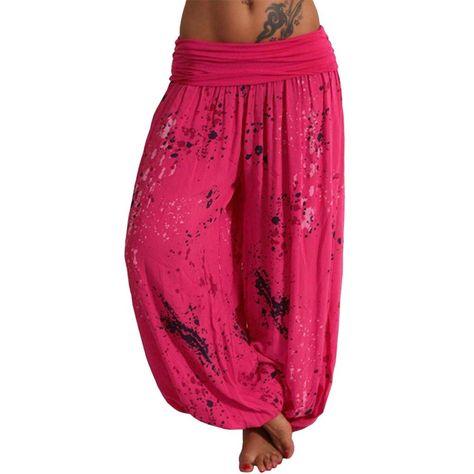 SERYU Loose Elastic Trousers Women Retro Striped High Waist Casual Harem Pants