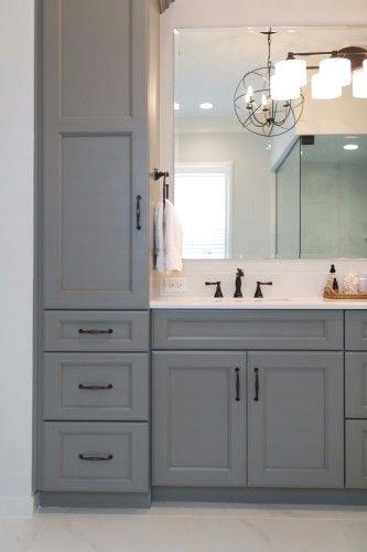 Tall Storage Aing Sink In 2019 Grey Bathroom Vanity
