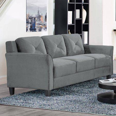 Lifestyle Solutions Ireland Sofa In Dark Grey Fabric Sofa Stylish Living Room Apartment Sofa