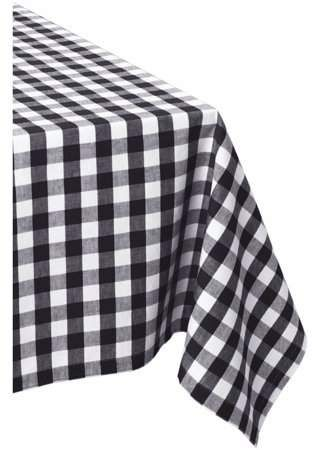 Dii Black White Checkers Tablecloth 60x84 100 Cotton Walmart Com In 2020 Black And White Tablecloth White Table Cloth Checkered Tablecloth