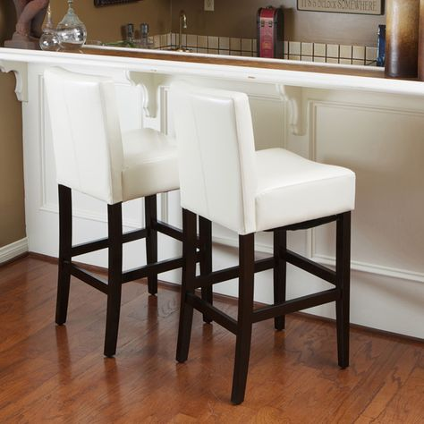 Super Lopez 30 Inch Ivory Wood Leather Bar Stools Set Of 2 By Ibusinesslaw Wood Chair Design Ideas Ibusinesslaworg