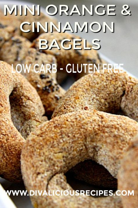 Mini bagels that are flavoured with orange and cinnamon, infusing your kitchen with a delicious aroma. #lowcarb #glutenfree #grainfree #keto #bagels #KetoSeafoodRecipes