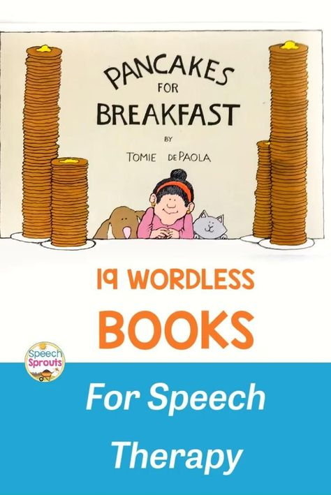 Speech Language Therapy, Speech Language Pathology, Speech And Language, Sign Language, Wordless Picture Books, Wordless Book, Preschool Speech Therapy, Preschool Books, Toddler Speech