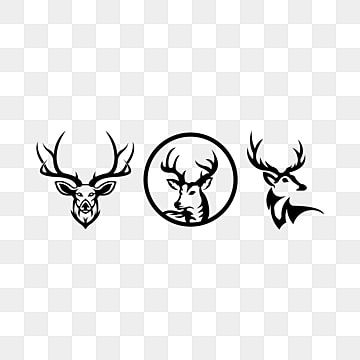 Silhouette Of Deer Head With Antlers Isolated Head Icons Deer Icons Silhouette Icons Png And Vector With Transparent Background For Free Download In 2021 Deer Head Silhouette Deer Vector Pet Logo Design