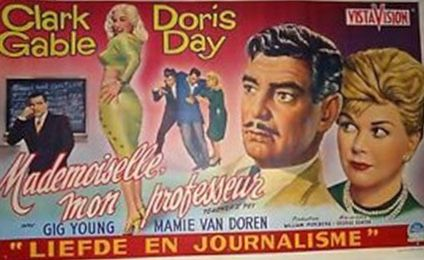 Pin By Vintage Hollywood Classics On The Art Of Movie Posters Clark Gable Clark Gable Movies Teachers Pet