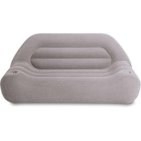 Intex Inflatable Outdoor Camping Sofa 75 X 37 X 34 Grey Walmart Com Inflatable Sofa Inflatable Furniture Intex