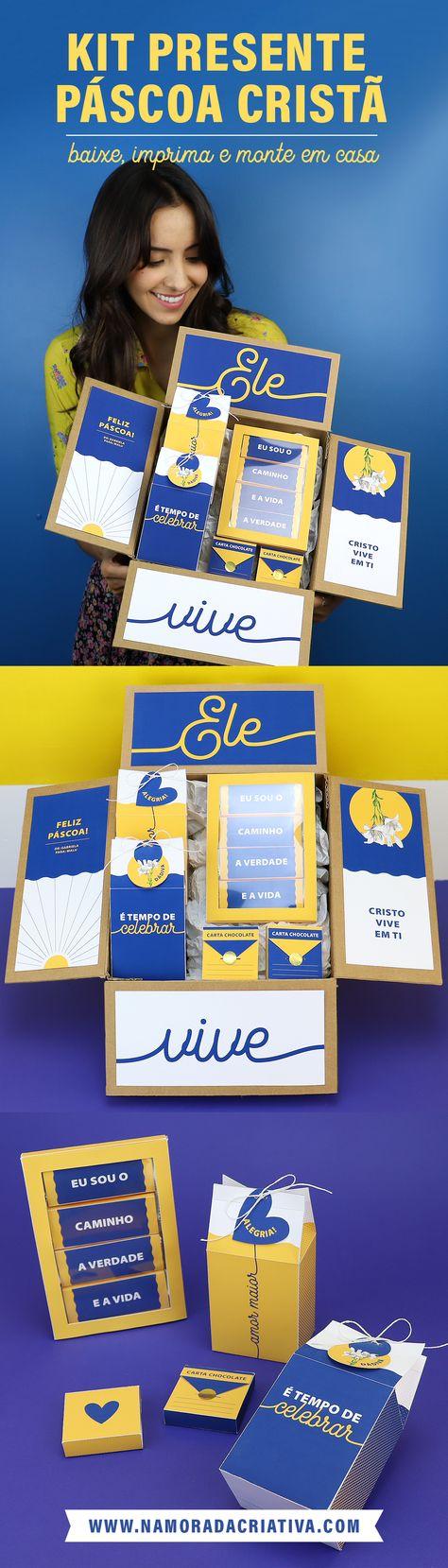 Baixe, imprima e monte um kit presente com temática cristã.