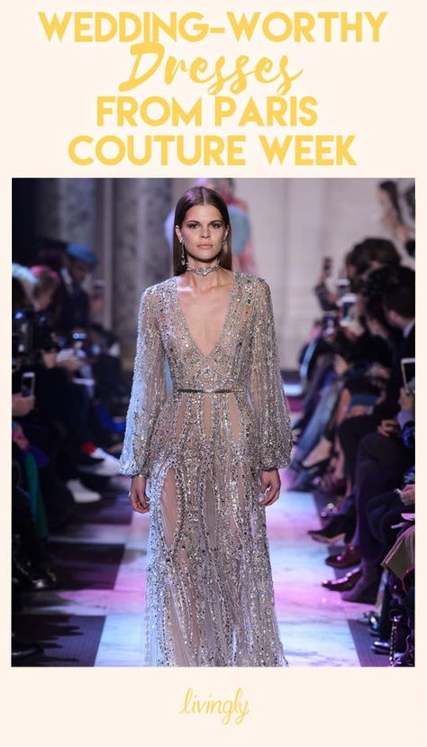 What girl wouldn't dream of walking down the aisle in a magnificent designer gown? Well, Paris Couture Week just delivered plenty of fodder for those wedding fantasies. From Elie Saab to Christian Dior and Zuhair Murad, these are must-see dresses for any fashion lover, especially a bride-to-be. Just take a look at all the tulle, lace and sequins shown on the most glamorous runway of the year.