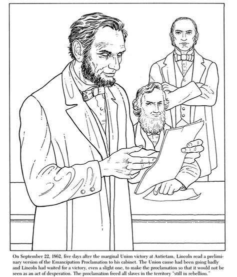 President Abraham Lincoln Coloring Page People Coloring Pages