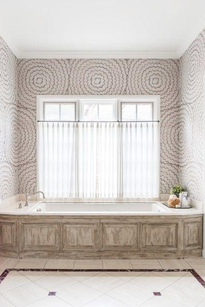 This Tulsa Home Will Make You Want A Black Bathroom Bathroom Wallpaper Home Luxury Decor