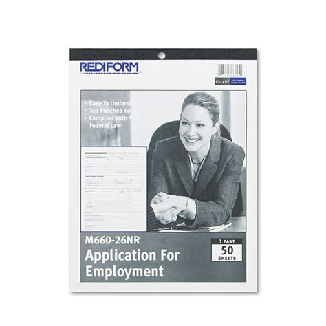 Employment Application, 8 1\/2 X 11, 50 Forms Products - employment application