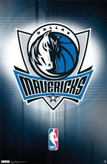 Bring your wall alive with the glorious logo art of Dallas' legendary NBA franchise, the 2011 NBA Champion Mavericks! This amazing poster gives you the official team crest of the Mavs basketball team, set atop a brilliant team-colored background design. Complete with the NBA's