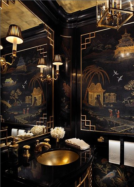 Pin By Douglas Barfield On Favorite Places Spaces Black Interior Design Asian Decor New York Apartment