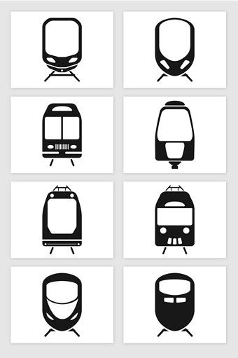 Train Front High Speed Train Front Subway Front Silhouette Illustration Vector Graphic Png Images Ai Free Download Pikbest Silhouette Illustration Train Vector Train Illustration