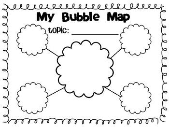 Blank Bubble Map Template | Writing graphic organizers ...