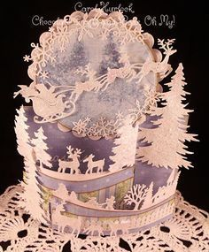 CottageCutz Winterland Bendi Fold by Gingerbeary8 - Cards and Paper Crafts at Splitcoaststampers
