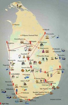 Originally planned for a fortnight, my visit to Sri Lanka lasted 23 days! During this time,I took the trail given in the map below. This isa result of trying topack in most of the places accessi…