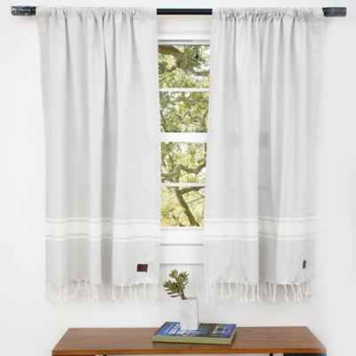 Product Image For Ugg Costa Mesa Rod Pocket Window Curtain Panels And Valance In Grey Violet Panel Curtains Bath Window Curtains