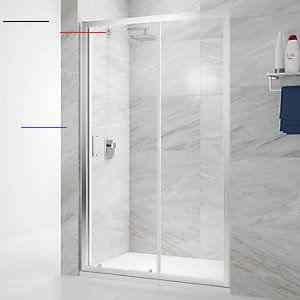 Nexa By Merlyn 6mm Chrome Framed Sliding Shower Door Only 1000mm Slidingshowerdoors In 2020 Shower Doors Shower Sliding Glass Door Sliding Shower Door